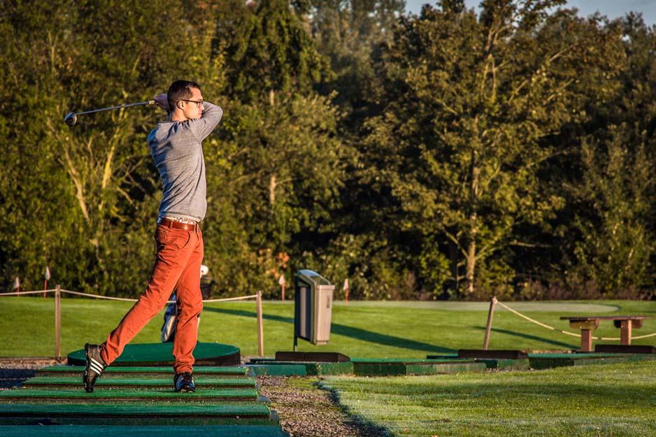 Golf en schouderpijn